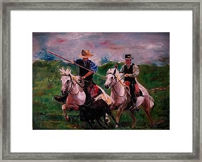 Herdsmen Framed Print