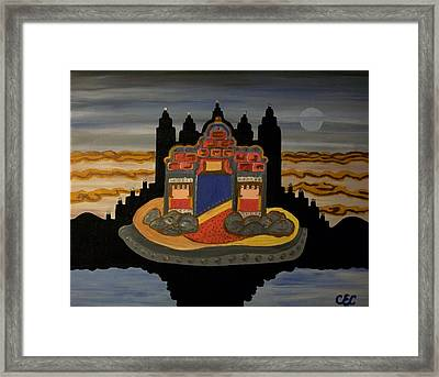 Framed Print featuring the painting Here   He Dwells by Carolyn Cable