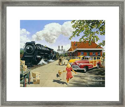 Here At Last Framed Print