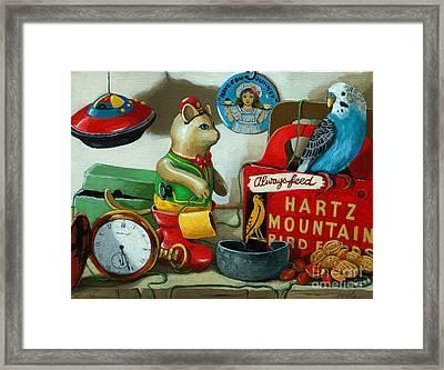 Here Birdie Birdie Framed Print by Linda Apple