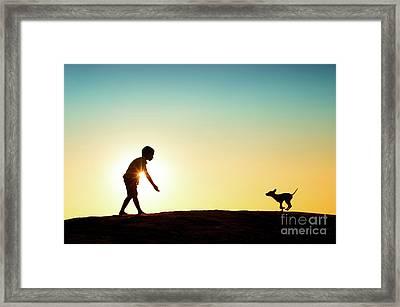 Here Boy Framed Print