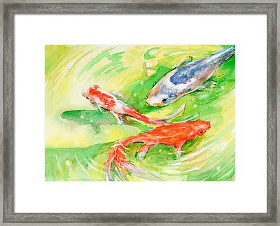 Here Comes Moby Framed Print by Judith Levins