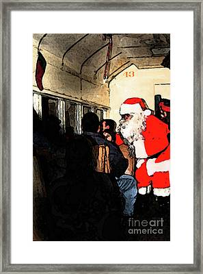 Framed Print featuring the photograph Here Come Santa by Kim Henderson