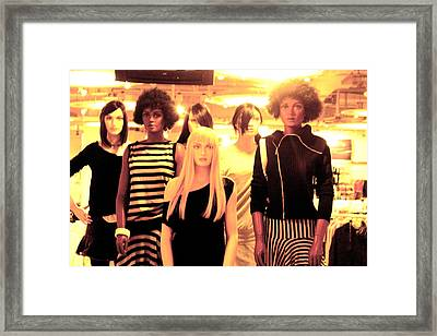 Here Come The Girls Framed Print by Jez C Self
