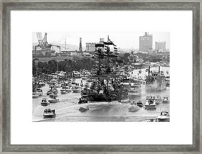 Here Come The Pirates Framed Print