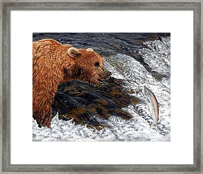 Here Comes Dinner Framed Print