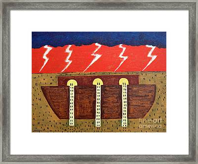 Here Comes The Flood Framed Print