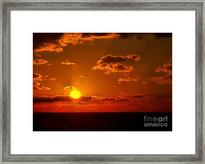 Here Comes The Sun Framed Print by Dave Bosse
