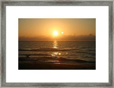 Here Comes The Sun. Framed Print by Dennis Curry