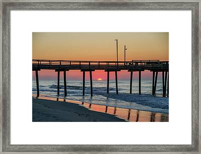 Here Comes The Sun - Ocean City New Jersey Framed Print by Bill Cannon