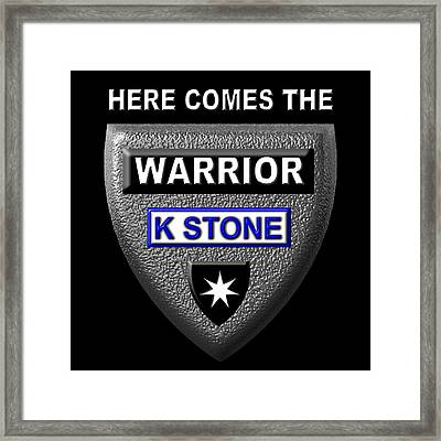 Here Comes The Warrior Framed Print