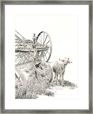 Here Comes Trouble Framed Print by Wendy Mould