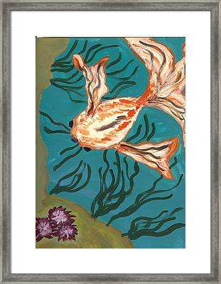 Here Fishy Fishy Framed Print by Laura Lillo