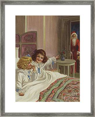 Here Is Father Christmas Framed Print