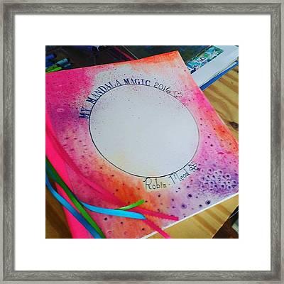 Here Is My 12 X12 Inch Mandala Journal Framed Print