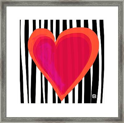 Framed Print featuring the painting Here Is My Heart by Lisa Weedn