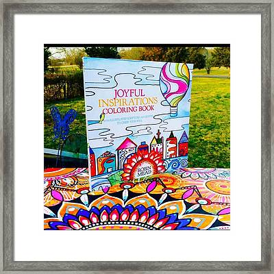 Here Is The Official #joyfulnspirations Framed Print