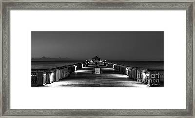 Framed Print featuring the photograph Here It Comes Folly Beach Pier Sunrise Art by Reid Callaway