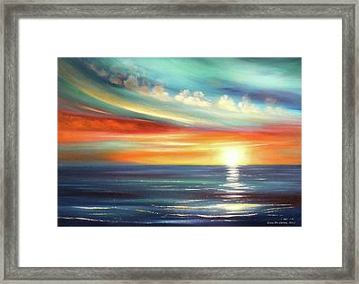 Here It Goes Framed Print by Gina De Gorna