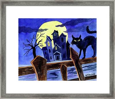 Here Kitty,kitty, Nice Kitty.  Framed Print