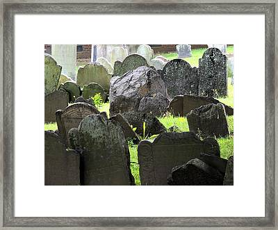Here Lyeth Framed Print