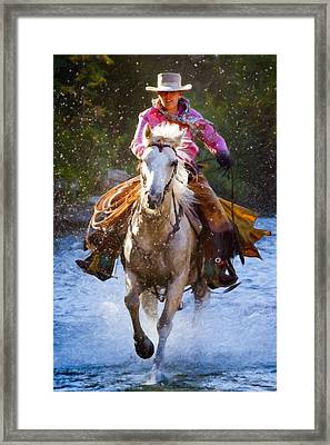Here She Comes Framed Print by Janet Fikar
