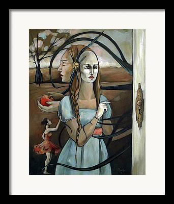 Knob Paintings Framed Prints