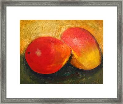Here We Mango Again Framed Print
