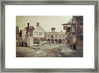 Hereford Framed Print by Cornelius Varley