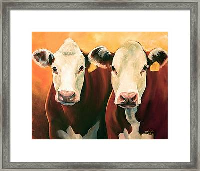 Herefords Framed Print by Toni Grote