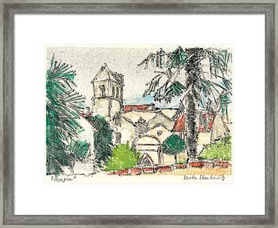 Herepian Village In Provence Framed Print by Martin Stankewitz