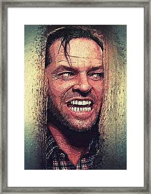 Here's Johnny - The Shining  Framed Print