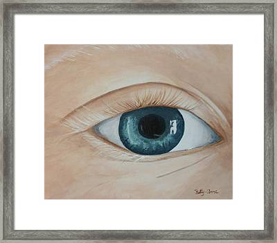 Framed Print featuring the painting Heres Looking At You by Betty-Anne McDonald