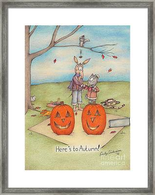 Here's To Autumn Framed Print