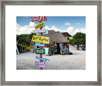 Here's What's Here 2 Framed Print