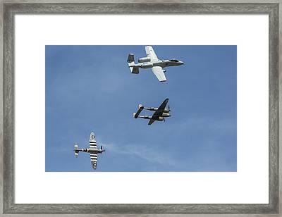 Heritage Flight Break Framed Print