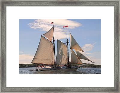 Heritage Full Sail Framed Print