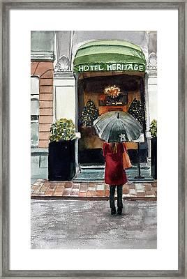 Heritage Hotel Framed Print