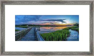 Heritage Shores Nature Preserve Sunrise Framed Print