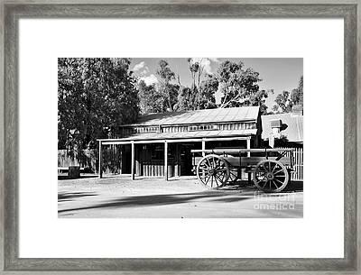 Heritage Town Of Echuca - Victoria Australia Framed Print by Kaye Menner