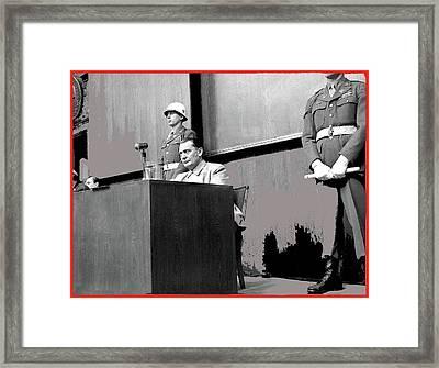Herman Goering At Nuremberg Trial 1945 Color Added 2016 Framed Print