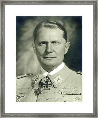 Herman Goering Autographed Photo 1945 Color Added 2016 Framed Print