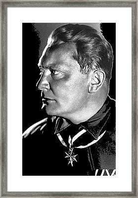 Herman Goering Portrait Wearing Blue Max Medal 1932 Bundesarchiv Color Added 2016 Framed Print