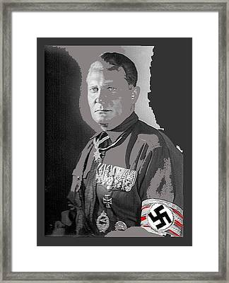 Herman Goering Portrait With His Medals Including The Blue Max Circa 1935-2016 Framed Print