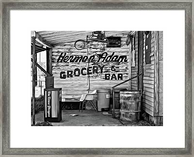 Herman Had It All - Paint Bw Framed Print by Steve Harrington