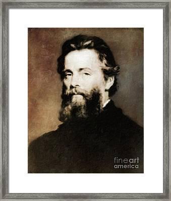 Herman Melville, Literary Legend By Mary Bassett Framed Print by Mary Bassett