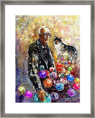 Hermann Hesse Framed Print by Miki De Goodaboom