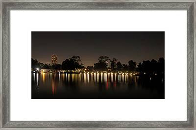 Hermann Park Night One Framed Print