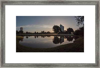 Framed Print featuring the photograph Hermann Park Sunrise by Joshua House