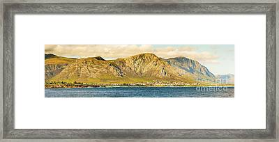 Hermanus Sunset Panorama Framed Print by Tim Hester